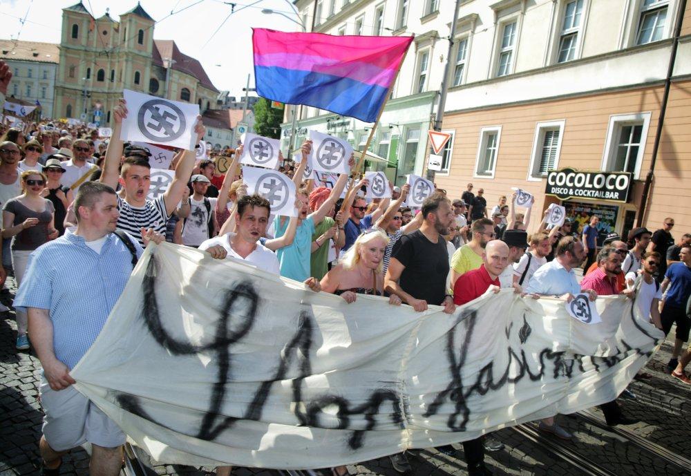 Pochod proti fašizmu. N - Tomáš Benedikovič