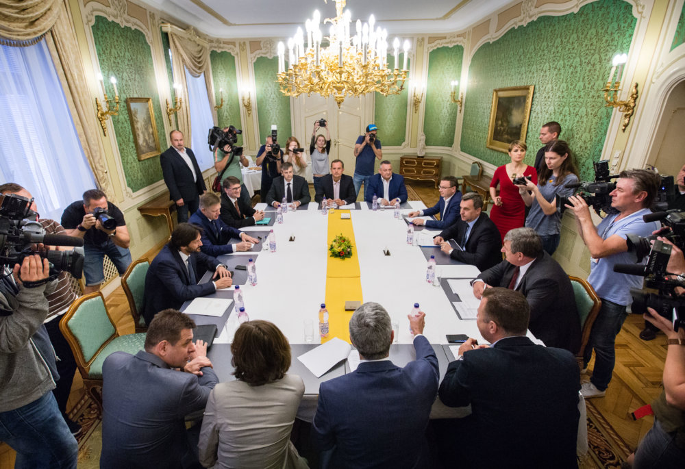 Pondelková koaličná rada. Foto N – Tomáš Benedikovič