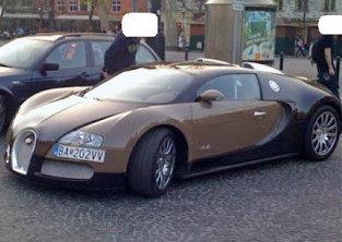 Bugatti Veyron Ladislava Bašternáka. Foto – parkujemakodebil.sk