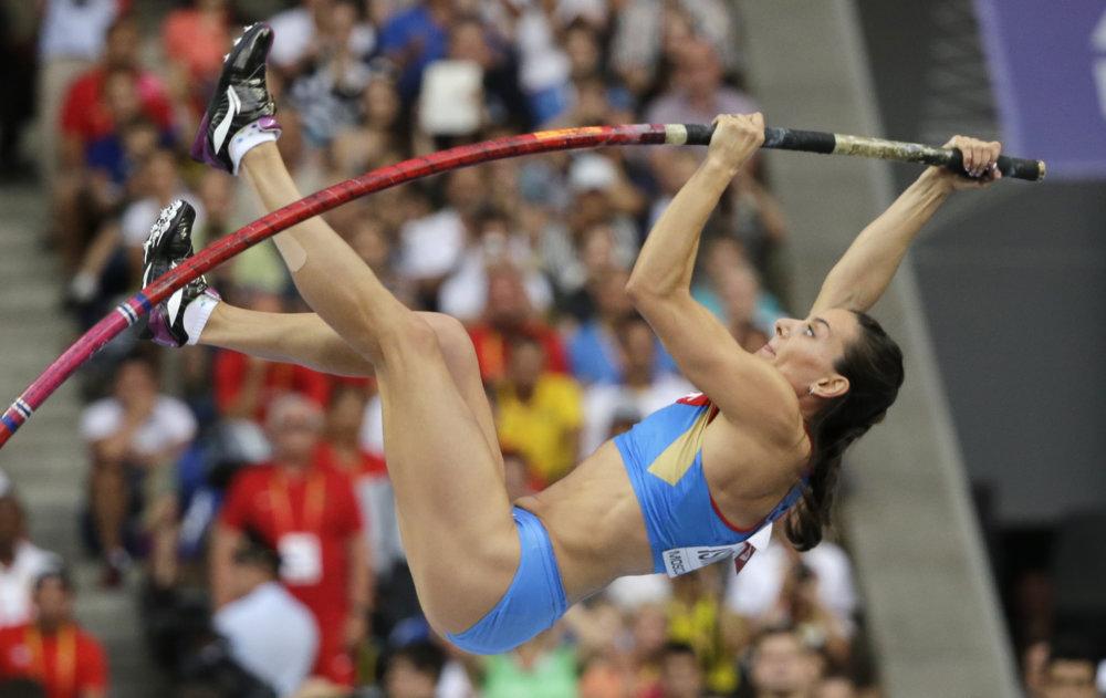 Jelena Isinbajevová sa hnevá, v Riu si nezaskáče. foto - TASR/AP