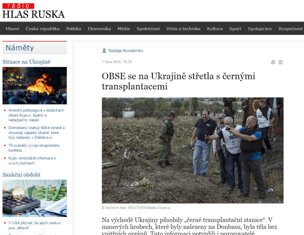 OBSE se na Ukrajině střetla s černými transplantacemi Zprávy Konflikty Hlas Ruska