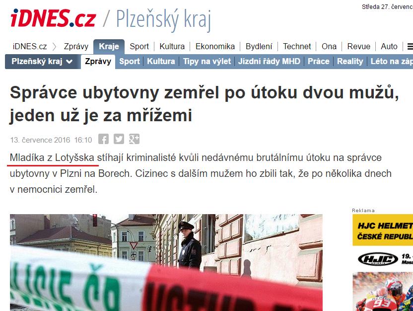 Správce ubytovny zemřel po útoku dvou mužů jeden už je za mřížemi iDNES.cz
