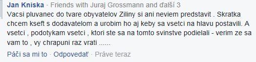 reakcia občana Žiliny