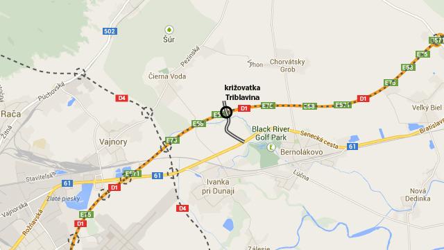 Takto kreslia diaľničiari na svojom webe situáciu križovatky Triblavina. Zdroj: NDS