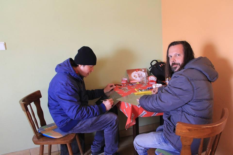 Martin Kochan a Cyril Blažo pri práci. Foto – archív MK