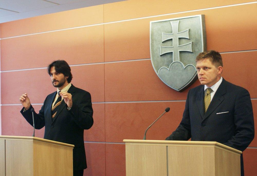 Slávna tlačovka premiéra a ministra vnútra o Hedvige Malinovej bola v septembri 2006. foto - TASR