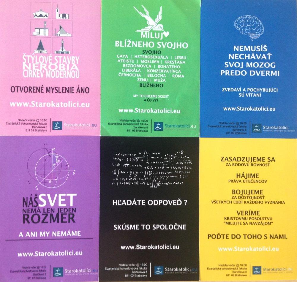 Letáky Starokatolíkov v Bratislave sa objavili aj na tohtoročnom Dúhovom Pride. Foto - N
