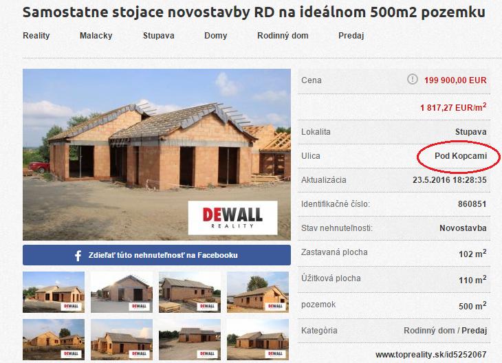 Prvé rodinné domy v rámci projektu Pod Kopcami sú už v ponuke realitných kancelárií.