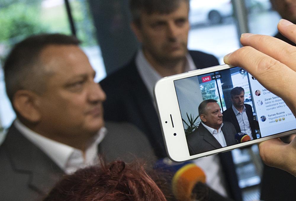 Kandidát na predsedu Eduard Adamčík. Foto – TASR.