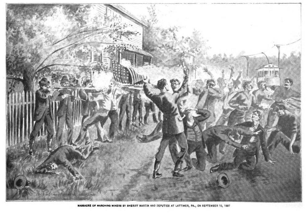 Masakra podľa karikaturistov, Brotherhood of Fireman journal, 1898