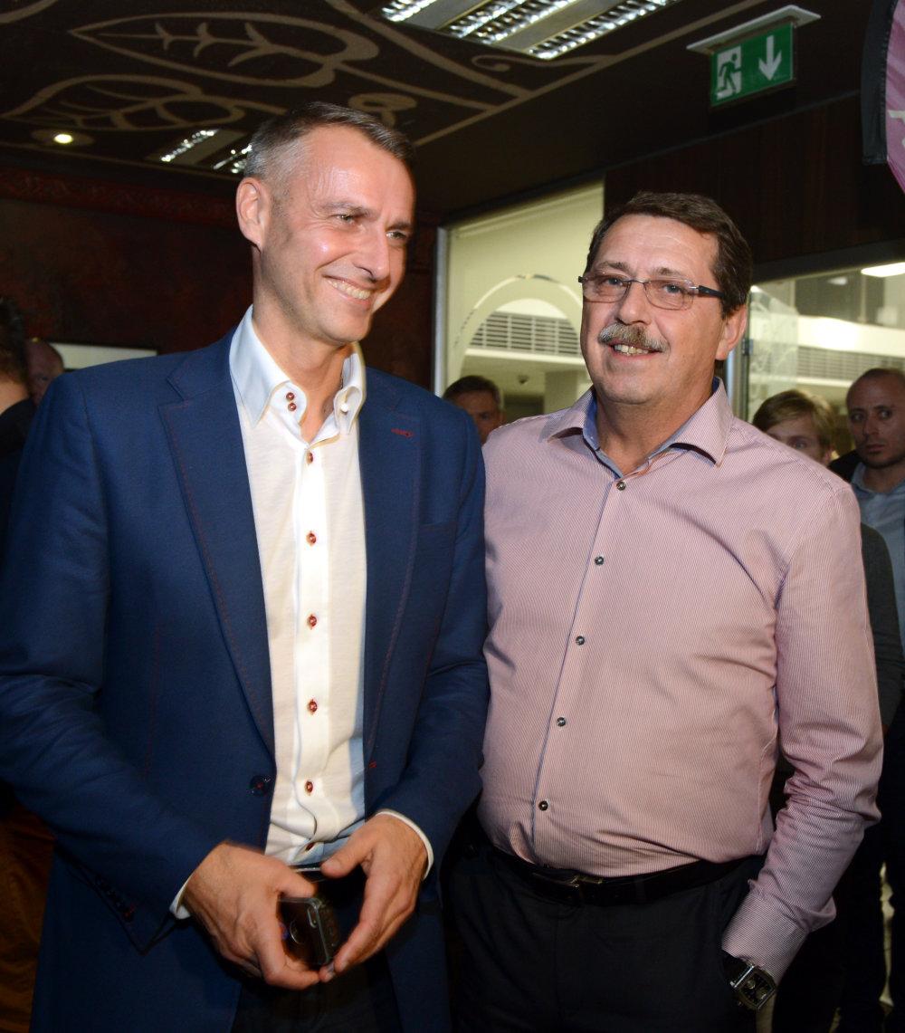 Kto je dôležitý v Košiciach: primátor Richard Raši a podpredseda Smeru Pavol Paška. Foto - TASR