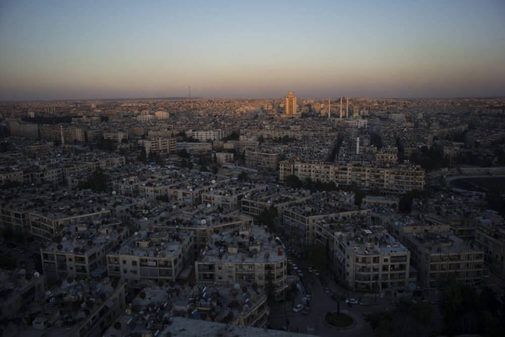 The skyline of Aleppo, Syria. MUST CREDIT: Lorenzo Tugnoli for the Washington Post