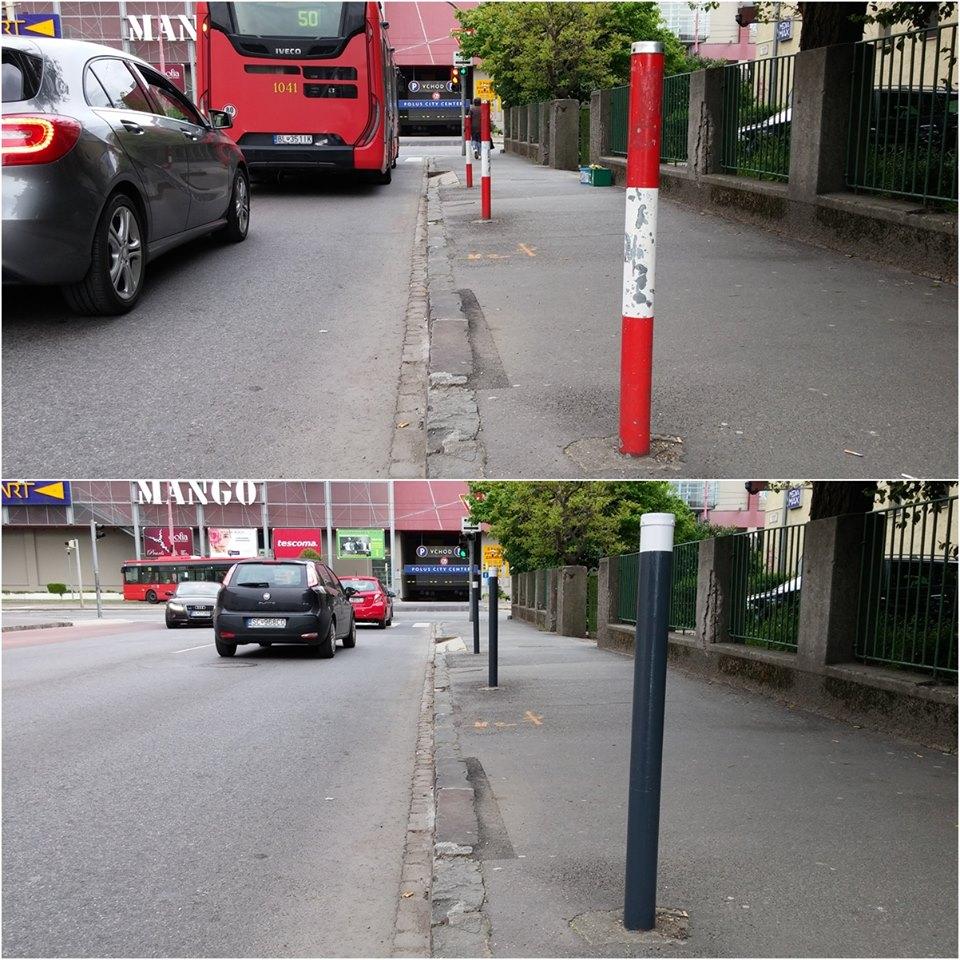 Zanedbané, polepené stĺpiky s opadávajúcou farbou dostali francúzsky šarm. Inšpirované mestom Grenoble ;-)