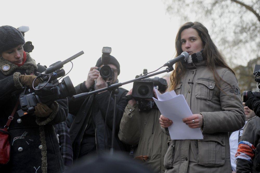 Protesty Gorila v roku 2012, Alena Krempaská. Foto -Tasr