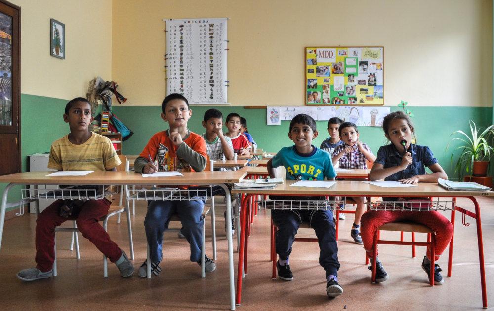 Deti v špeciálnej škole v Hanušovciach nad Topľou. Foto N - Juraj Koník