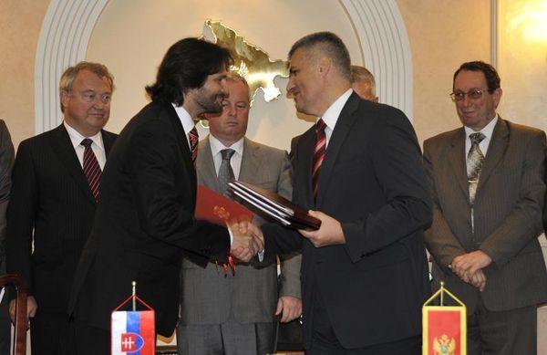 Robert Kaliňák na rokovaní v Čiernej Hore v roku 2012. Foto - mzv