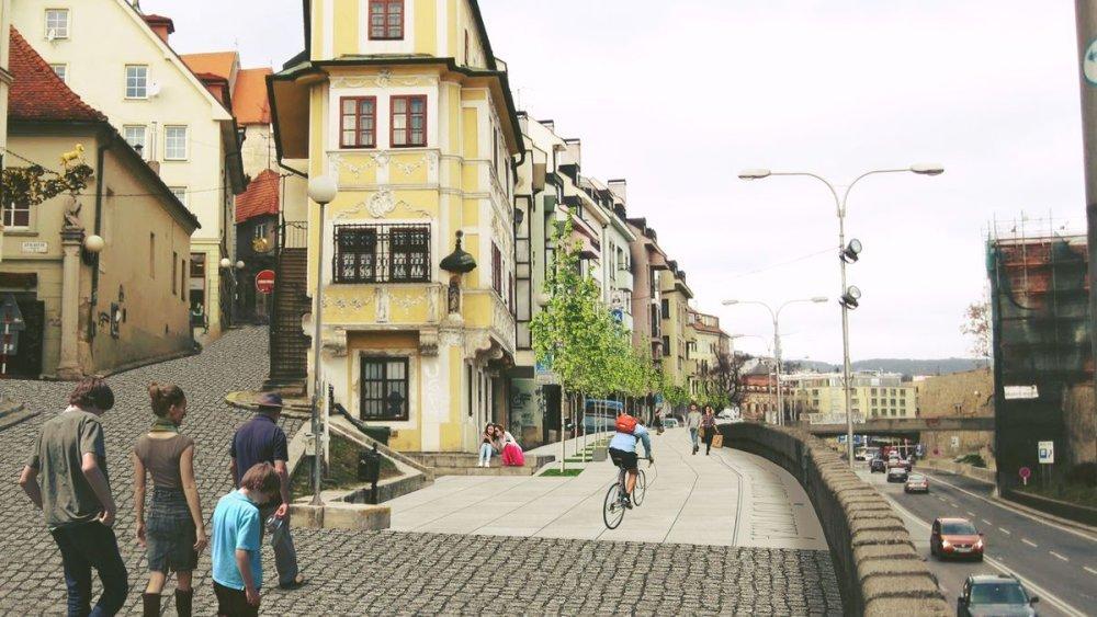 Židovská ulica na vizualizácii.