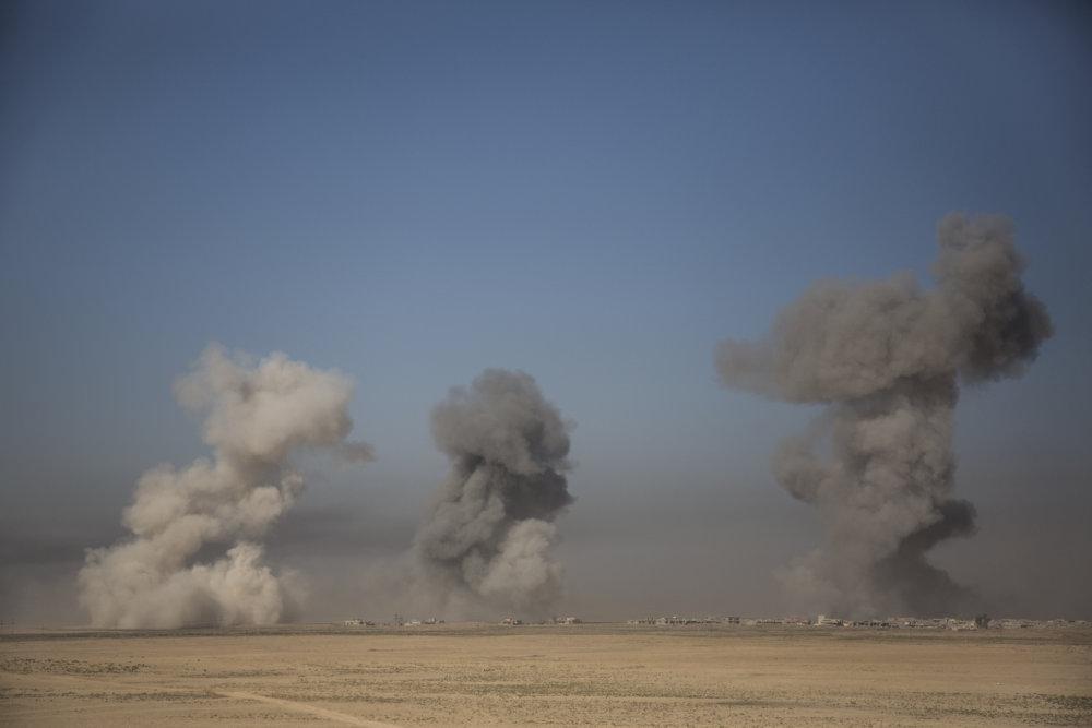 Bombardovanie pozícií Dáišu. FOTO - JURAJ MRAVEC