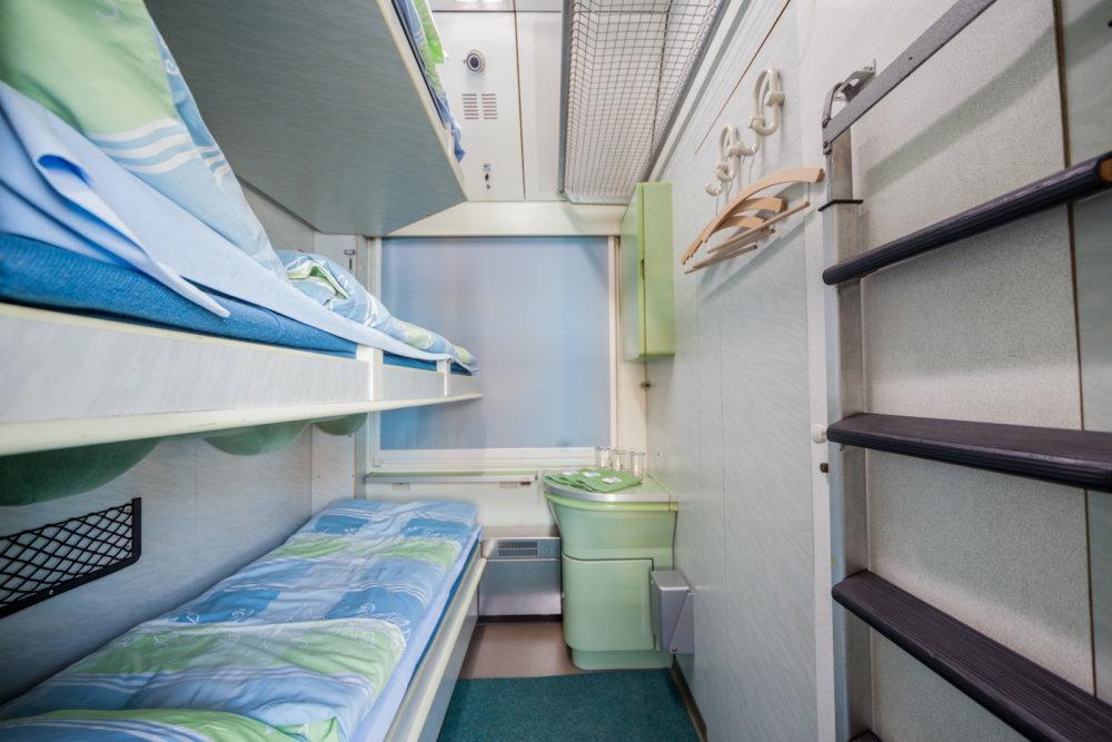 V moderných lôžkových kupé majú cestujúci k dispozícií i umývadlo. Foto - Wagon Slovakia Košice