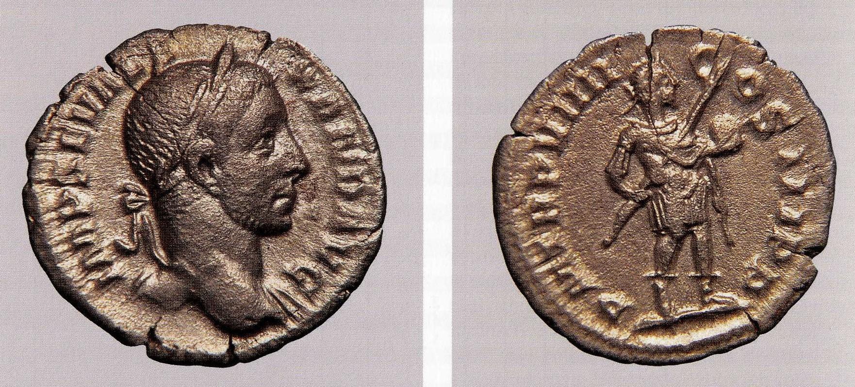 Minca (denár) cisára Alexandra Severa, 230 n. l., Bratislava-Dúbravka