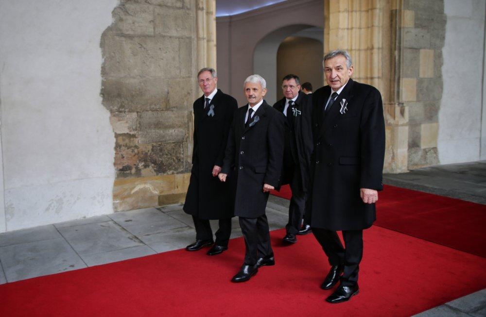 Bývalí premiéri Mikuláš Dzuridna a Jozef Moravčík a bývalý predseda parlamentu Pavol Hrušovský. Foto N – Tomáš Benedikovič