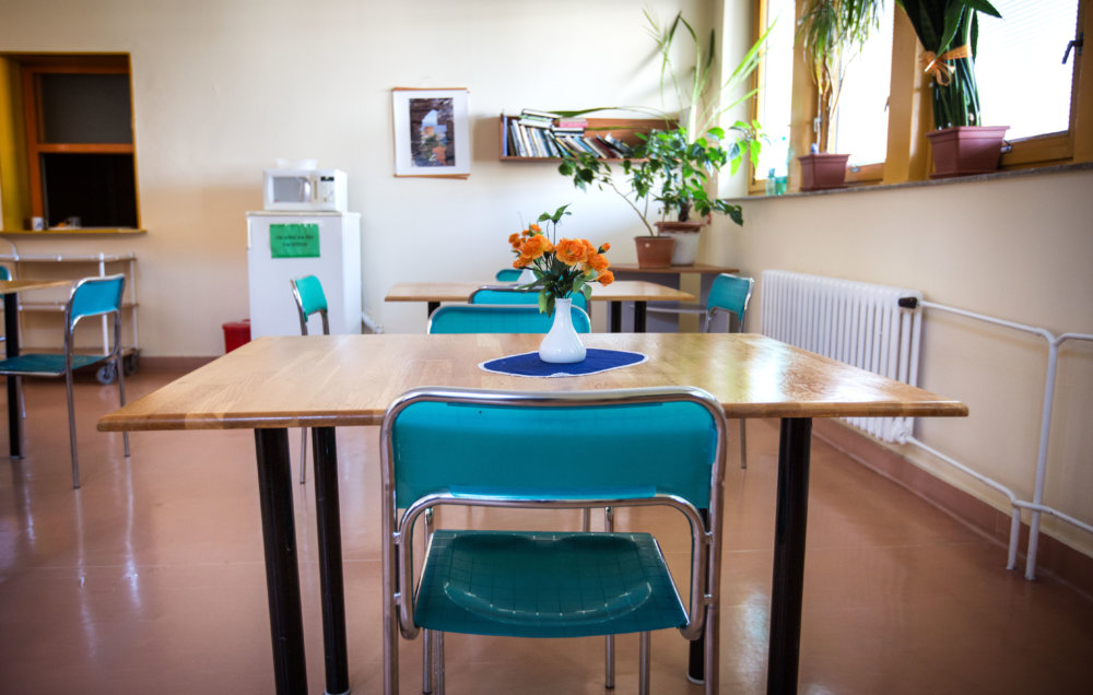 Jedáleň na oddelení dlhodobo chorých v Ružinove. Foto N - Tomáš Benedikovič
