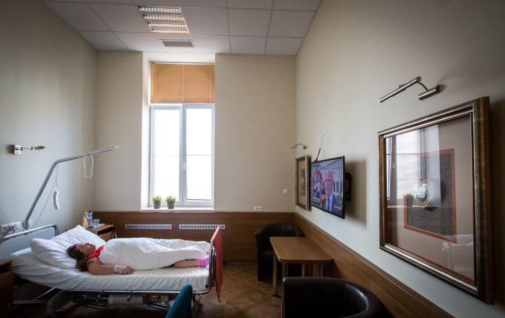 Zrekonštruovaná izba na neurológii v Straom meste. Foto N - Tomáš Benedikovič