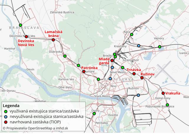 Terminály integrovanej osobnej prepravy (TIOP)
