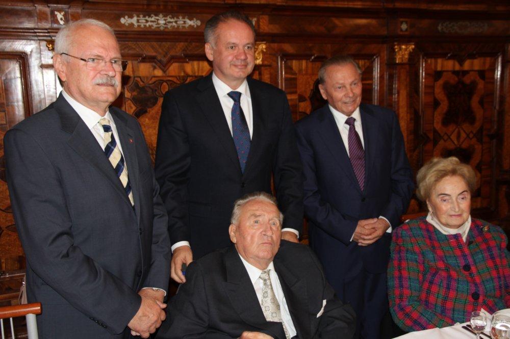 Oslava 85. narodenín Michala Kováča. Foto – Pavol Demeš