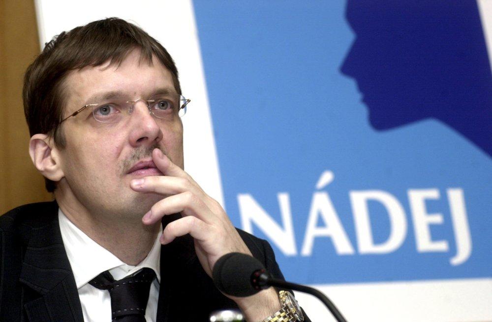 Nádej - strana spomínaná v Gorile a jej člen Jirko Malchárek. Foto -TASR