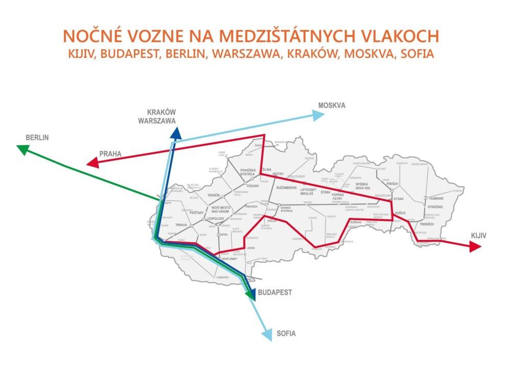 nocne_vlaky_medzistatne_mapka