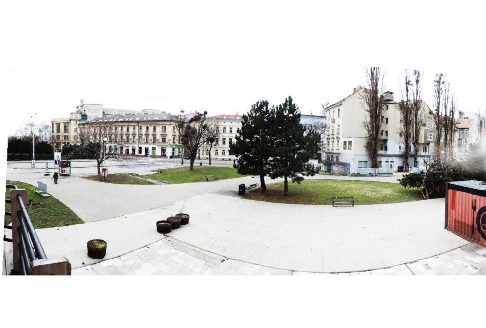 Dnešné Šafko z miesta, kde kedysi stál kontajnerový projekt Olivera Kleinerta. Foto - f&b cc