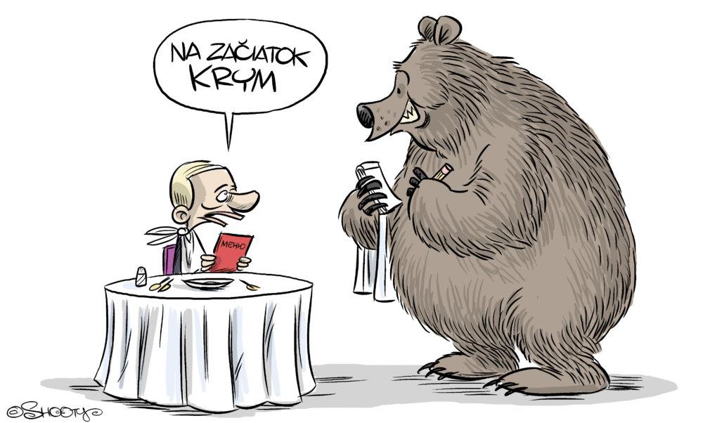 Shooty: Putin vs. Ukrajina. 2. marca 2014, SME.