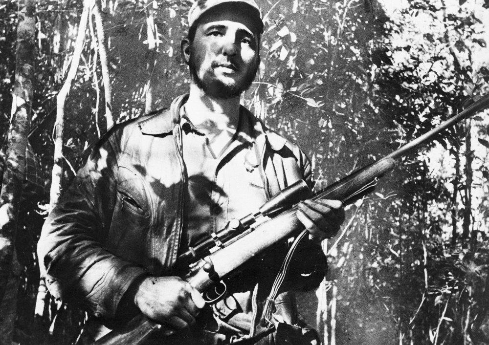 Castro v roku 1957 ako partizán. Foto - ap