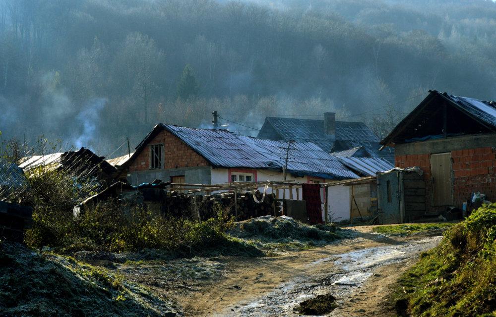 Osada, v ktorej žije okolo 500 ľudí. foto N - Daniel Vražda