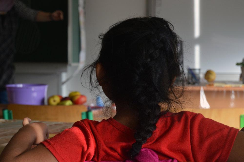 Dievčatko zo školy v Muránskej Dlhej Lúke. Foto N - Daniel Vražda.