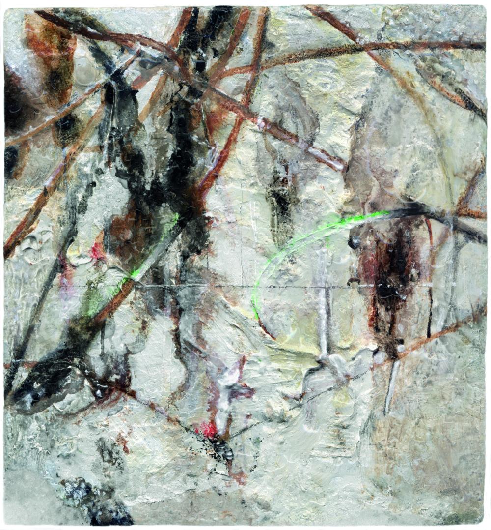 Daniel Fischer: sNežné figúrky, 2004 - 2005, 10 x 10 cm, olej na plátne.