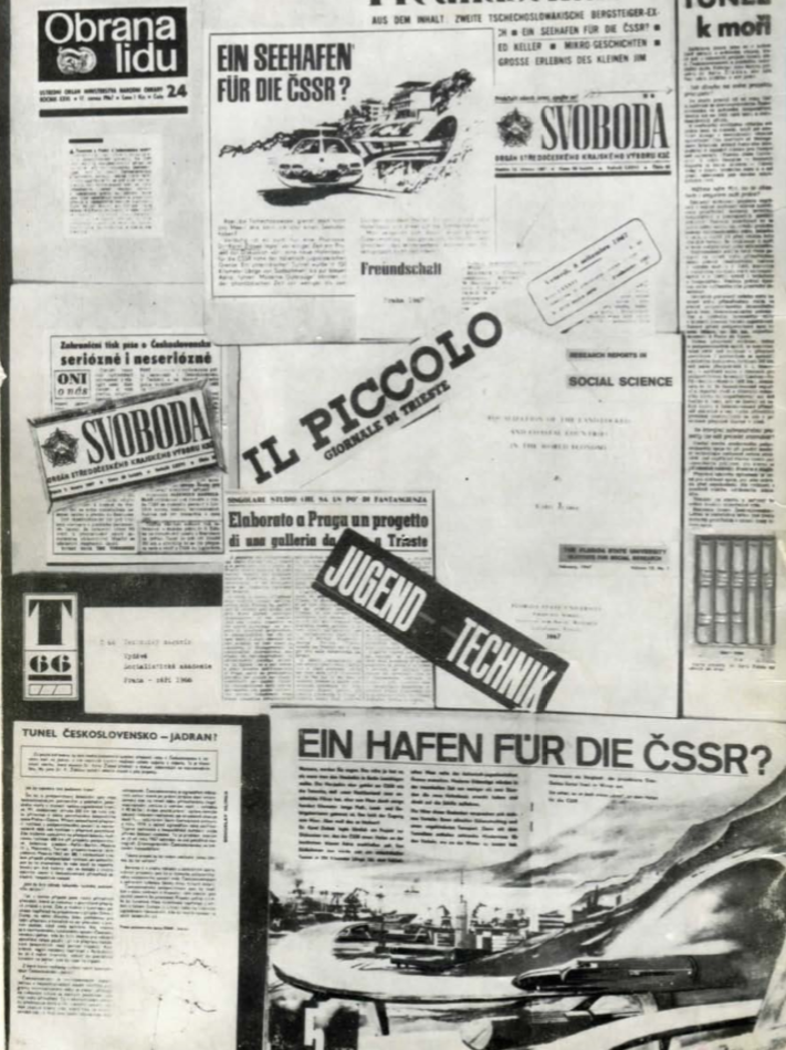 Zmienka o tuneli v zahraničí. Foto - dokument profesora Žlábka