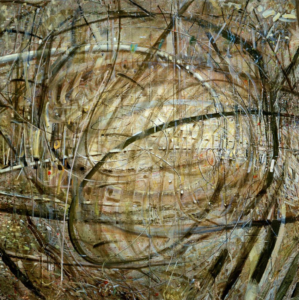 Daniel Fischer: Priestory, 2002, olej na plátne, 200 x 193 cm.