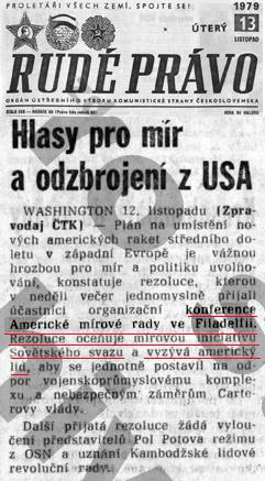 Rudé právo, 13. 11. 1979