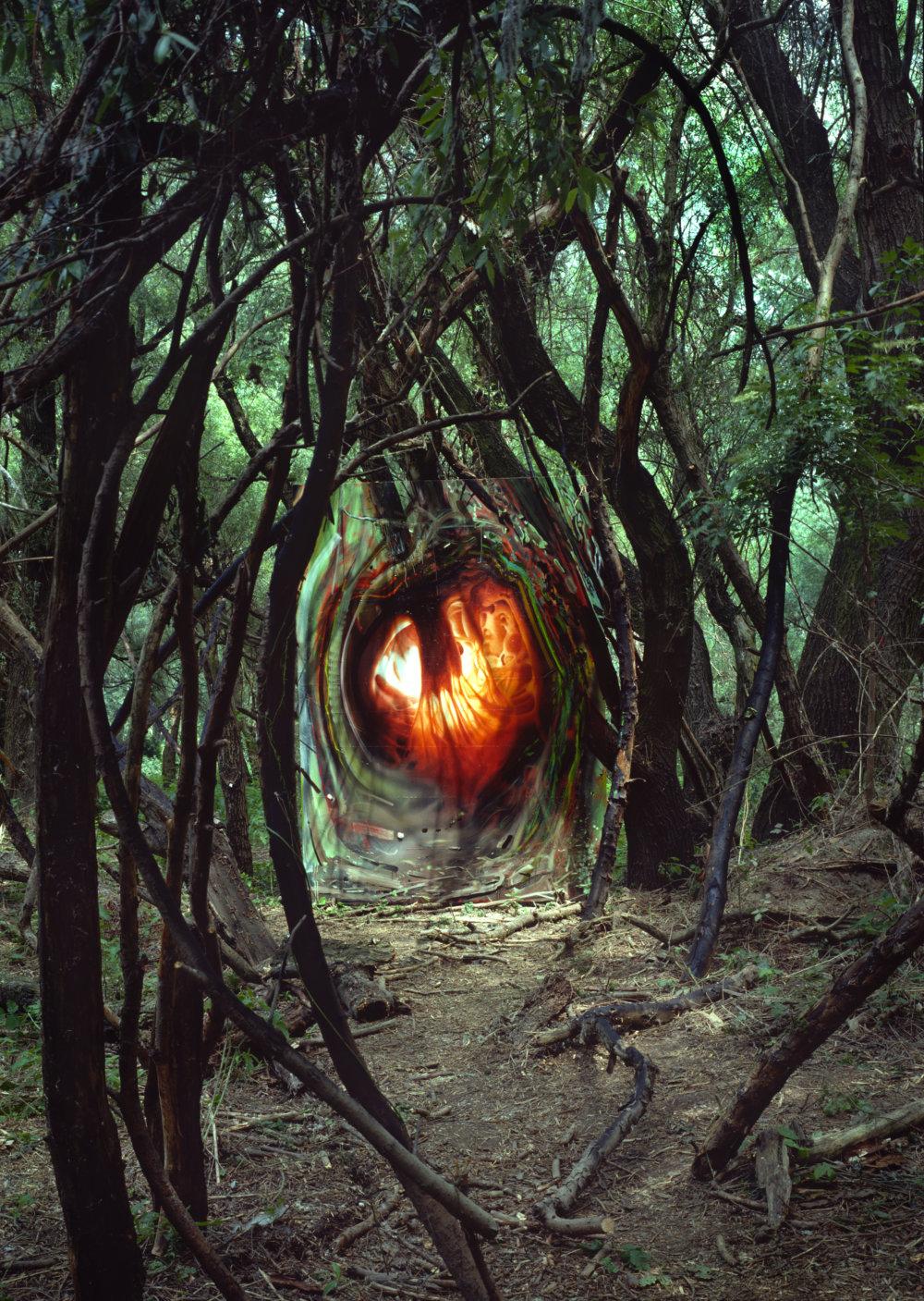 Daniel Fischer: Srdce skutočnosti, 1995, fotografia, 270 x 200 cm