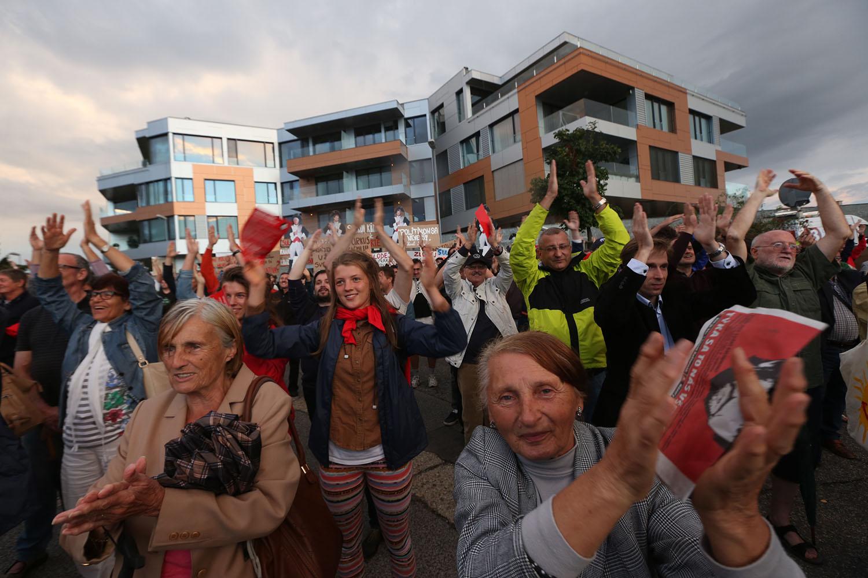 5. 9. 2016, Bratislava. Protest Bonaparte. Foto N - Vladimír Šimíček
