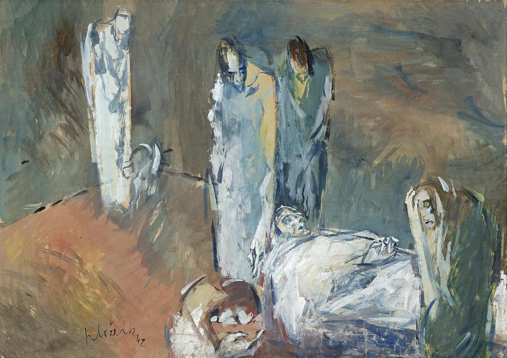 Vincent Hložník: Mŕtvy. 1942.SNG, Bratislava