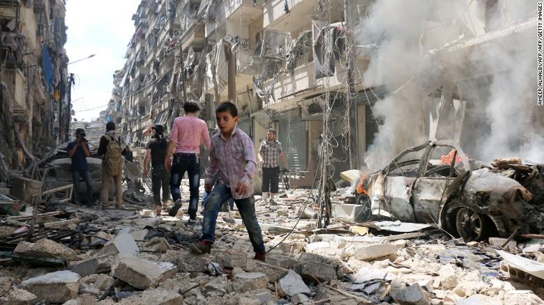 Utrpenie civilistov v Aleppe
