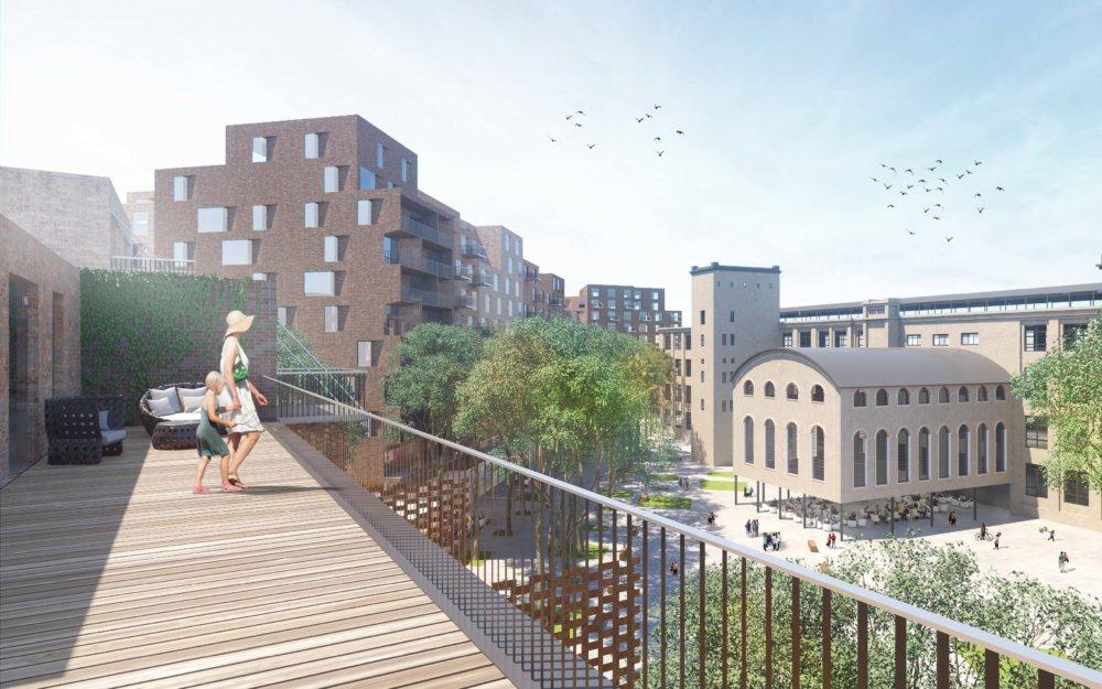 V areáli vzniknú bloky budov, ich výška bude rásť v smere od Košickej ulice. S jedinou výškovou budovou ráta návrh na križovatke Svätoplukova. Vizualizácia - Compass Architekti