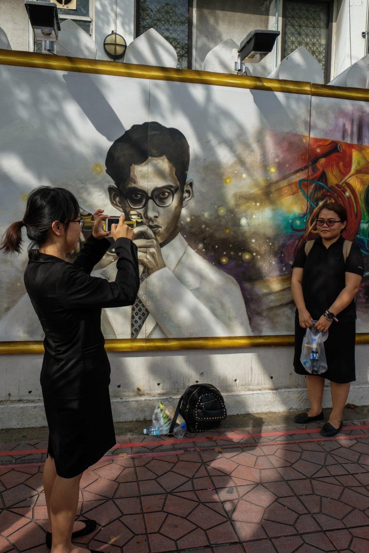 Fotografie skráľom, ktorý je najčastejšie vyobrazený sfotoaparátom okolo krku. Foto - Noel Rojo