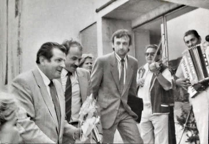 Gaulieder (vpravo) s Vladimírom Mečiarom. foto - archív F.G.