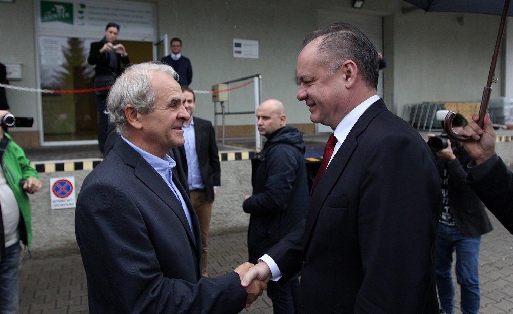 Ján Lunter a Andrej Kiska. Foto – prezident.sk