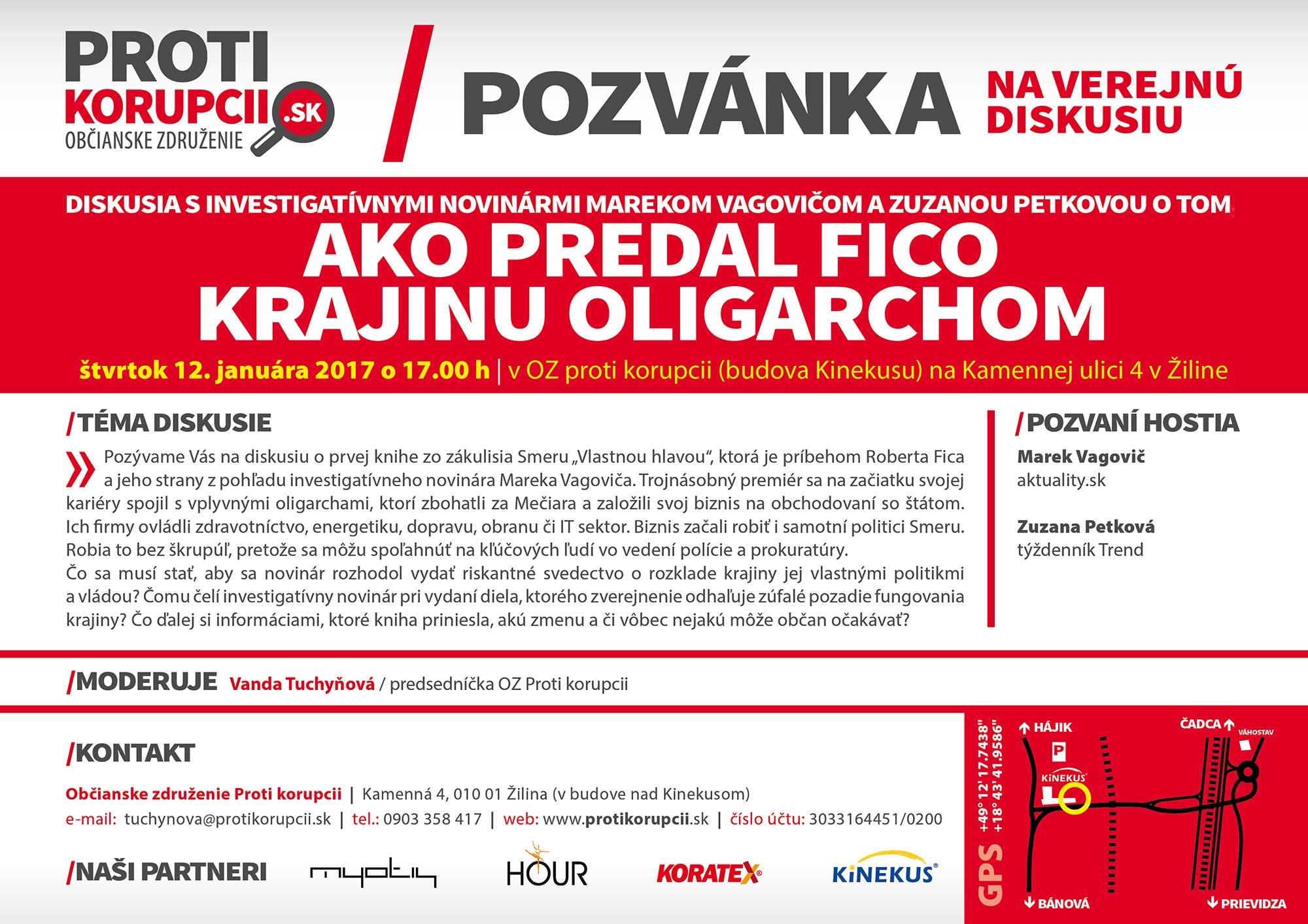 pozvánka na Mareka Vagoviča
