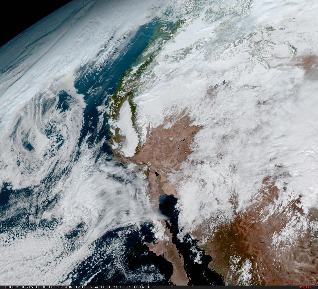 Pohľad na Kaliforniu. Foto - NOAA/NASA